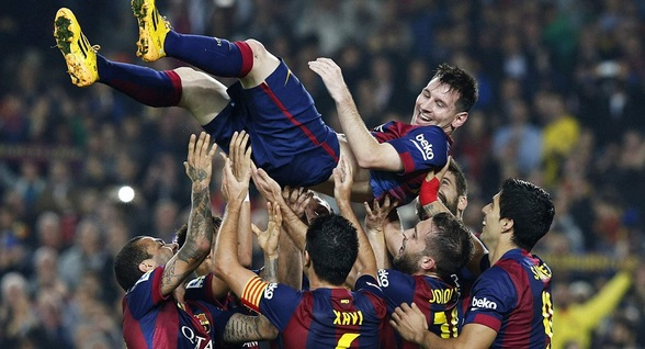 Scoring a hattrick against Sevilla on 22 November 2014 Messi became the leading goalscorer in spanish league history