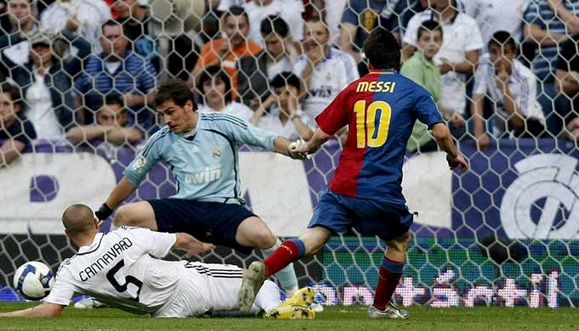 Messi scored his first hattrick which came against Real Madrid in 2006-07 season in 3-3 draw