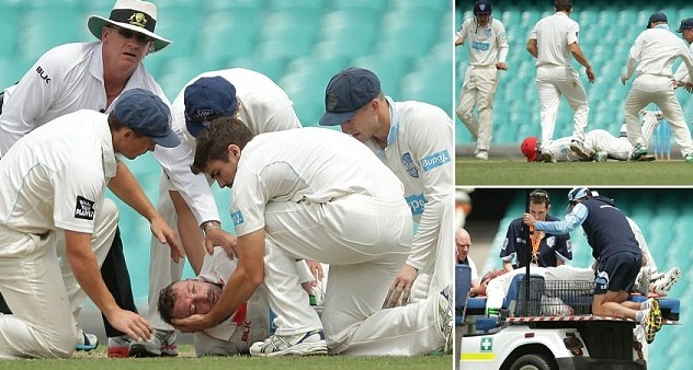Phil Hughes Injury video