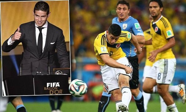 James Rodriguez puskas goal of the year award