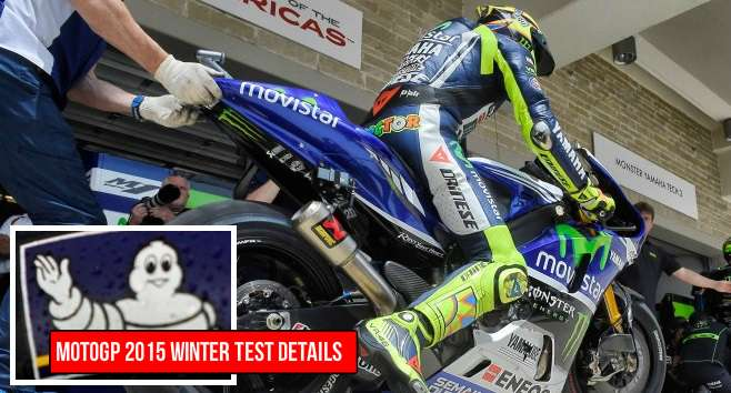 MotoGP 2015 winter testing schedule
