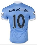 Sergio Aguero jersey highest selling