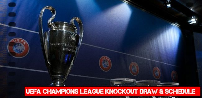 champions league knockout draw schedule