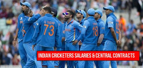 indian cricketers salaries 2015