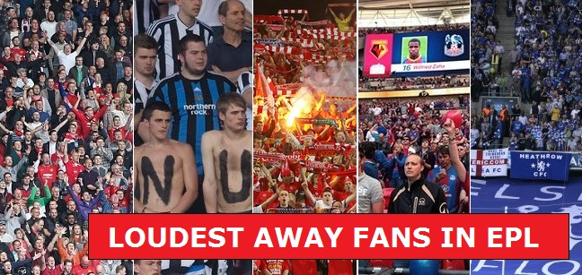 top 10 loudest fan base in premier league