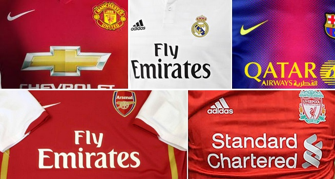 Biggest Football Shirt Sponsorship deals