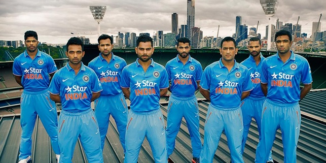Indian Official Jersey CWC 2015 world cup