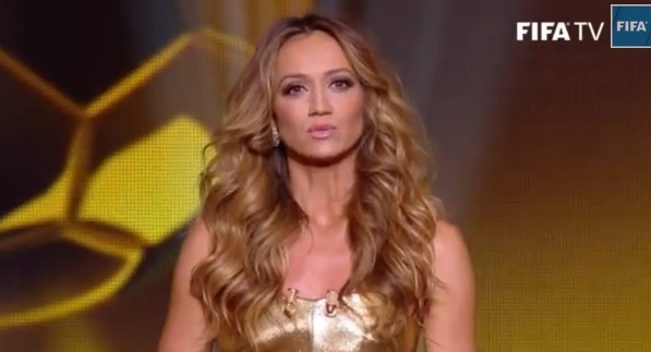 Kate Abdo ballon dor ceremony