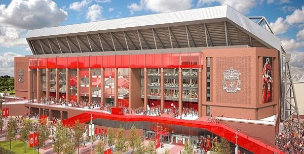 Liverpool Anfield stadium new main stand