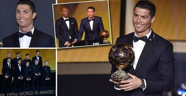 Ronaldo Wins Ballon Dor 2014 his third