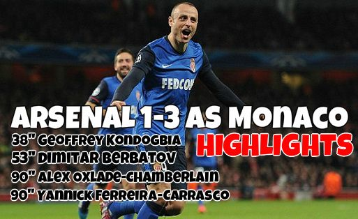 Arsenal vs Monaco highlights 2015 champions league