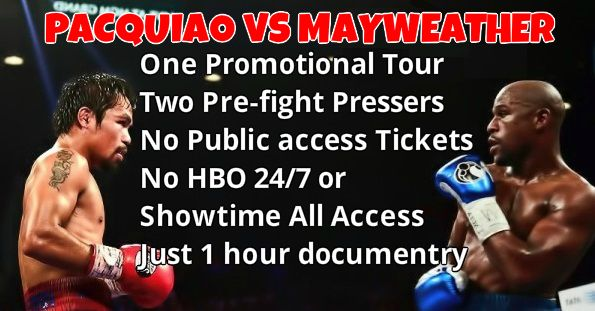 Pacquiao vs Mayweather Promotions tours pressers build up schedule