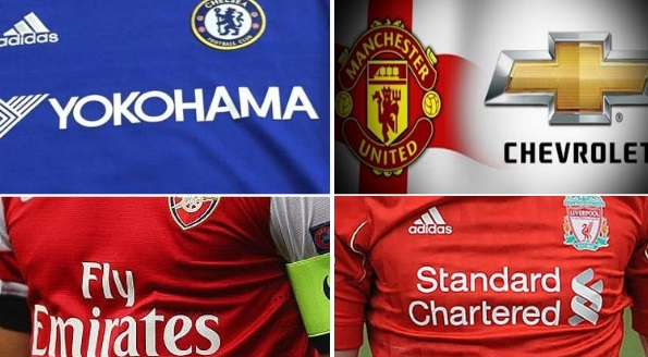 Premier League shirt sponsorship deals