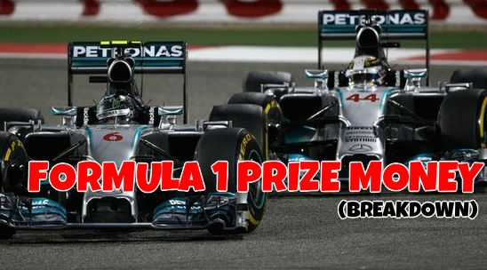 Formula 1 Prize Money 2015 breakdown
