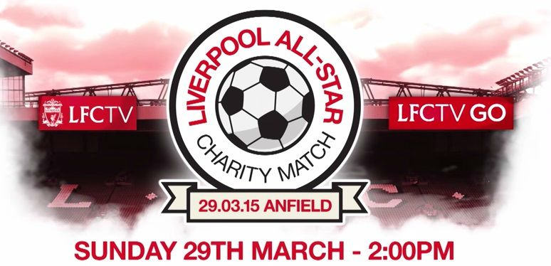 Liverpool all star charity match live streaming