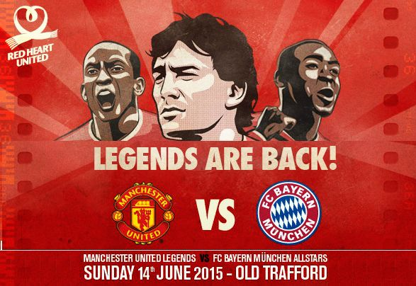 Manchester United vs Bayern Munich Legends Match 2015