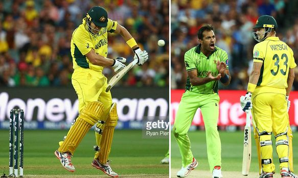 Wahab Riaz bowling spell vs shane watson video