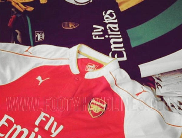 arsenal 2015-16 kits leaked