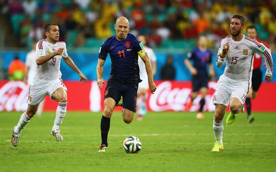 Arjan Robben Fastest Footballer of 2015