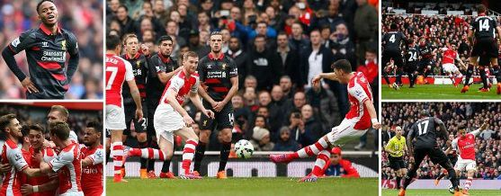 Arsenal vs Liverpool Highlights 2015
