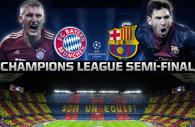 Barcelona vs Bayern Munich 2015 CHampions League Semifinal