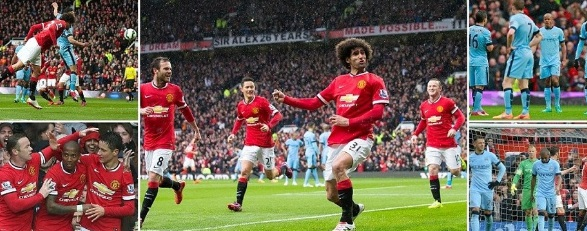 Manchester United 4-1 Man City 2015 Highlights Videos