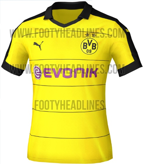 borussia-dortmund 2015-16 home kit