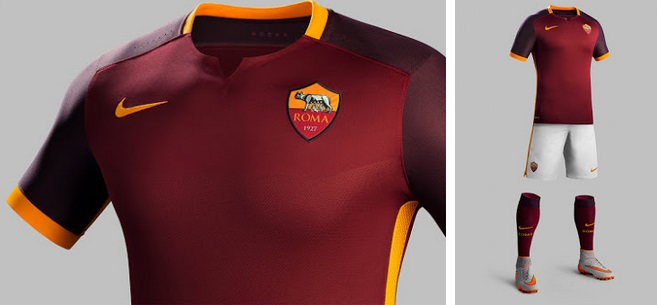 AS Roma 2015-16 kit released 22