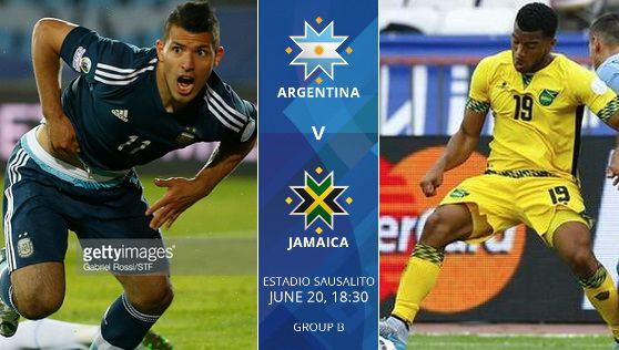 Argentina vs Jamaica live stream highlights 2015 copa america