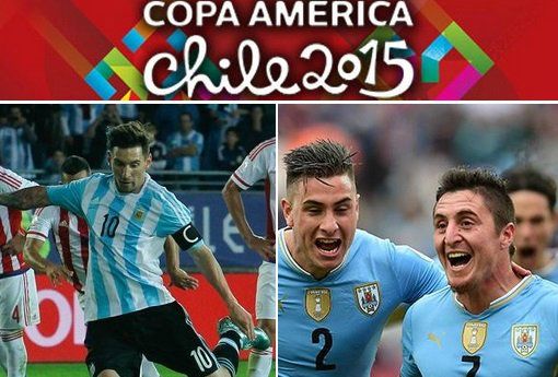 Argentina vs Uruguay live stream highlights 2015 copa america