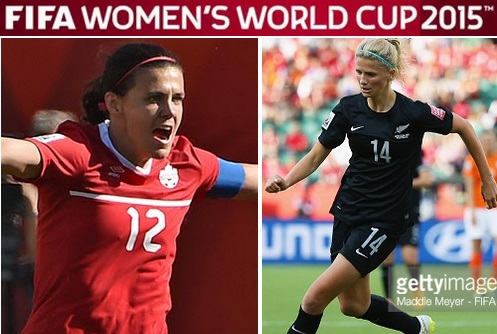 Canada vs New Zealand live stream highlights women world 2015