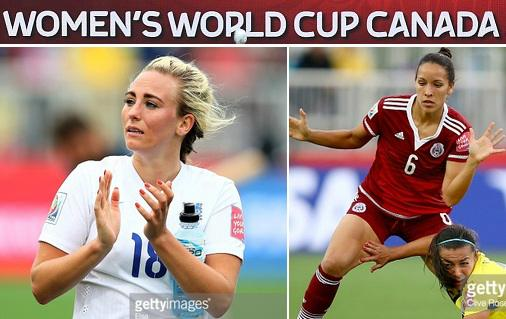 England vs Mexico 2015 women world live stream highlights