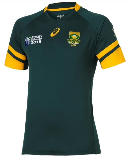 South Africa 2015 Rugby World Home Kit official release