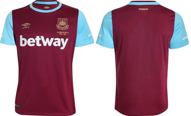 West Ham 2015-16 home kit 1