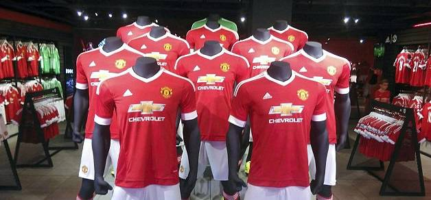 Manchester United adidas record kit sales in 2015-16