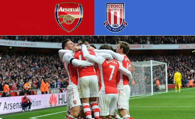 Arsenal vs Stoke City Highlights