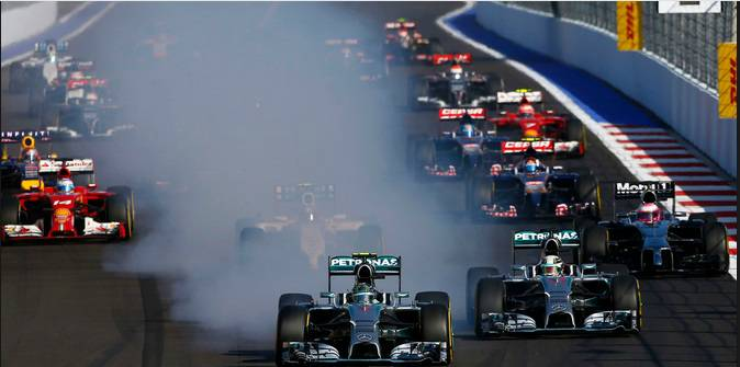 Formula 1 Russian Grand Prix 2015 Highlights Replay Video