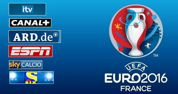 UEFA Euro 2016 TV Channels List