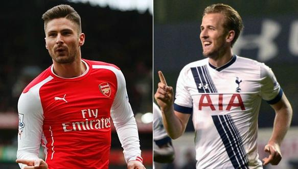 Harry Kane has enjoyed superb run of form while Giroud has not scored in last 7 games for Arsenal