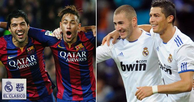 Real Madrid vs Barcelona Lineups Predictions 2015
