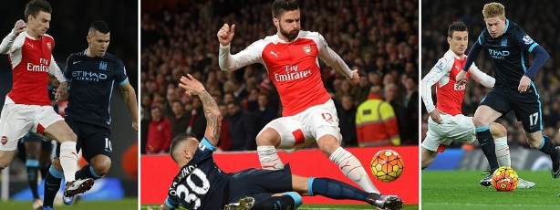 Arsenal vs Manchester City Highlights 2015