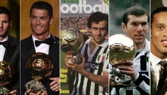 List Of Ballon d'Or Winners Since 1956 To 2018