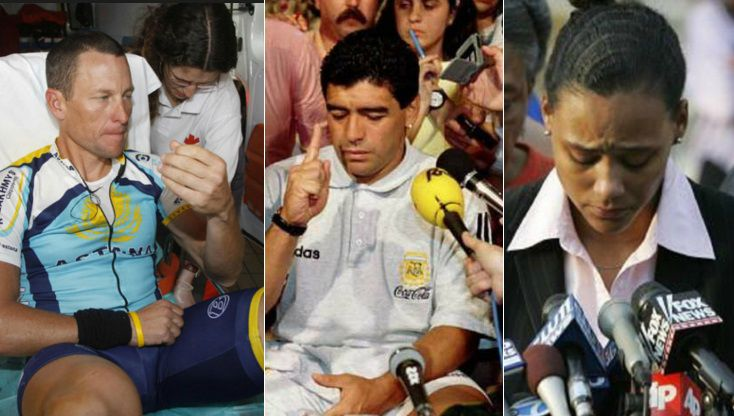 Famous Athletes who failed drug tests