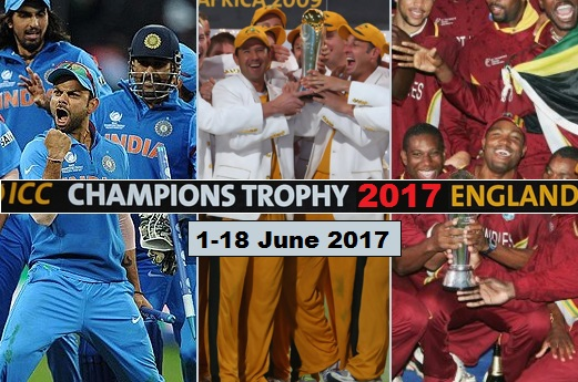 ICC Champions Trophy 2017 teams, schedule format