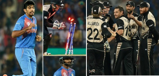 New Zealand vs India world T20 match result and scorecards