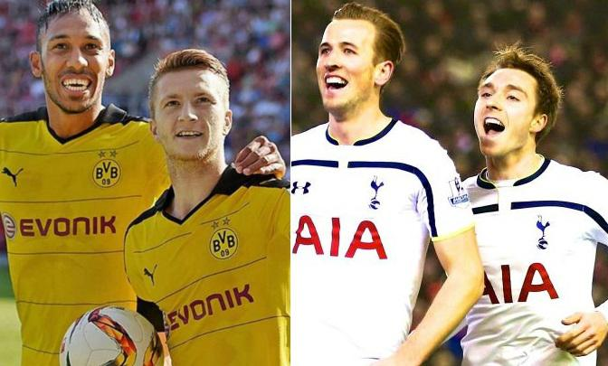 Both Spurs and Dortmund have never meet at competitive level before.