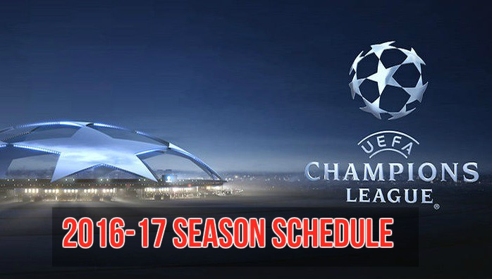 Champions League 2016-17 schedule