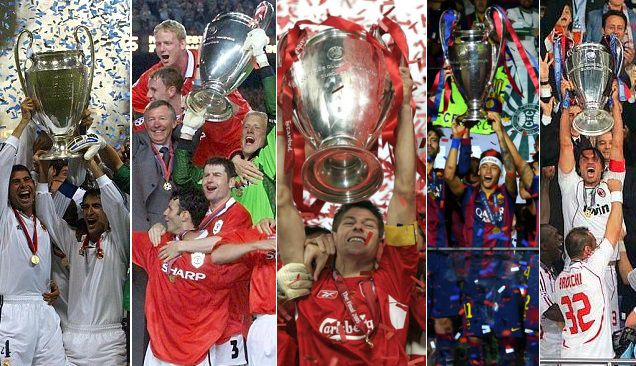 Champions League past winners list