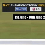 ICC Champions Trophy 2017 Schedule (Announced)