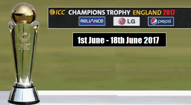 ICC Champions Trophy 2017 Schedule announced